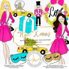 Christmas Clipart Glam New York on Sale! Create your own invites, stickers, printables and more with this kit! ♥ IMPORTANT RULES!!  ->> The basic commercial license included is up to 50 sales, only on physical products. To use on digital sales a commercial license is required.  ->> If you will use without a license on physical sales (up to 50 sales only) you need to provide credit to our Store with link: (Some Graphics Pretty and Creative https://www.etsy.com/shop&#...