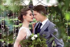 Greenary wedding / romantic bride and groom