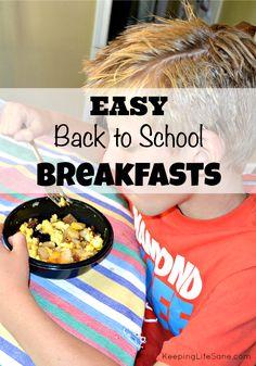 EASY Back to School Breakfasts - Keeping Life Sane