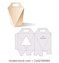 Retail Box with Blueprint Template Packaging Dielines, Packaging Box, Paper Packaging, Packaging Design, Diy Gift Box, Paper Gift Box, Paper Gifts, Wax Tablet, Box Design