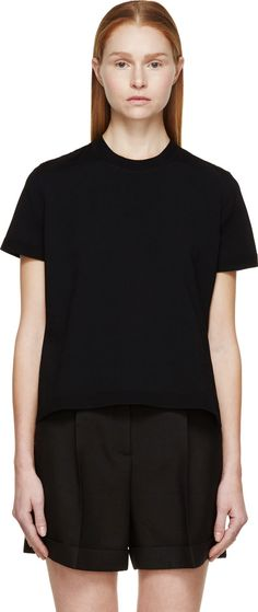 Valentino - Black Heavy Lace T-Shirt