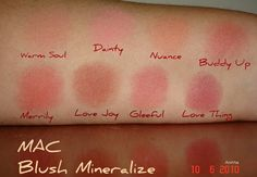 Mac mineralize blush swatches