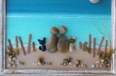 Pebble Art Rock Art Pebble Art Couple Rock Art от CrawfordBunch