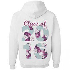 2016 Floral Class: Unisex Jerzees Heavyweight Hoodie 3XL White Customized Girl  $33.97 - $39.97