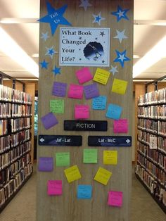 Elementary School Library Ideas | what book changed your life? Like the idea of an interactive library ...