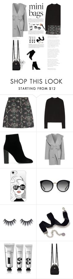 """""""So Cute: Mini Bags"""" by amimcqueen ❤ liked on Polyvore featuring MSGM, The Row, René Caovilla, Barbara Casasola, Casetify, Dolce&Gabbana, Sweet Romance, Verso and Versace"""