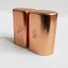 Mid Century Copper Salt and Pepper Shakers