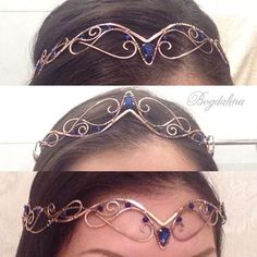 Elvish tiara Elven crown by deirdre - Haarschmuck Head Jewelry, Cute Jewelry, Jewelry Crafts, Jewelry Accessories, Jewelry Design, Jewelry Ideas, Jewelry Rings, Wire Crown, Circlet