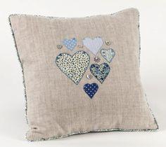 Heart Cushion - two little birds