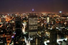 View of Johannesburg's skyline from Carlton Centre's 50th floor (Photo by Roger Gordon)