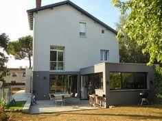 Sophie Bannwart - Architecte d'intérieur pour la juxtaposition/harmonisation réussie de l'extension par rapport au reste de la maison