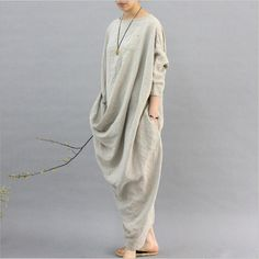 Plus Size Cotton And Linen Retro Women's Dress Robes Morocco,Turkey's robes Dresses Loose Long Dress Bohemian women maxi dresses