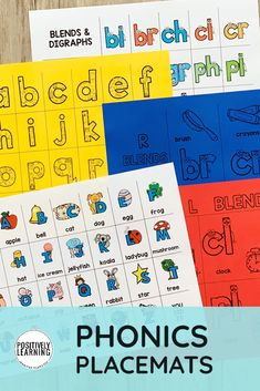 Learning at the kitchen table? Add these visual phonics placemats to your small groups OR use at home. There are 15 mats focusing on alphabet letters and sounds, digraphs, and blends.
