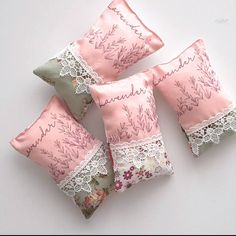 Spruce up your stuffy drawers and closets with a bunch of cute DIY lavender sachets! Making lavender bags is crazy easy and quick and a great project for beginner sewists! Source by petroneagu cute Hand Sewing Projects, Sewing Projects For Beginners, Sewing Crafts, Sewing Diy, Scrap Fabric Projects, Basic Sewing, Sewing Table, Lavender Crafts, Lavender Sachets