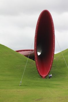Anish Kapoor work at The Farm, New Zealand. An enormous piece.