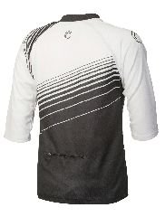 The 2012 Nema Vee X Jersey - White/Black 3/4 sleeve (back) #realtruecycling #mtb #nema - Nema Downhill MTB $39.99 http://shop.nemacycling.com/vee-x-jersey/
