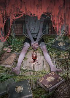 Arte Horror, Horror Art, Aesthetic Art, Aesthetic Anime, Dark Fantasy, Fantasy Art, Desenhos Halloween, Art Sketches, Art Drawings