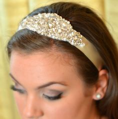 Patricia ... Ivory and Crystal Headband ..  Perfect Bridal Accessory ... FREE shipping worldwide by TessHarrissDesigns on Etsy