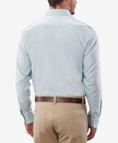 Michael Kors Men's Classic Fit Non-Iron Dress Shirt - Purple 17.5 32/33