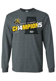 Wichita State Shockers 2015 MVC Champions Long Sleeve Tee http://www.rallyhouse.com/college/wichita-state-shockers/a/mens/b/clothing/c/t-shirts?utm_source=pinterest&utm_medium=social&utm_campaign=Pinterest-WSUShockers $27.99