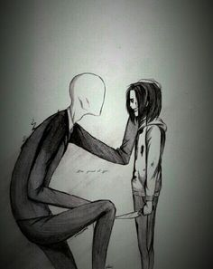 Slenderman + Jeff the Killer ♥
