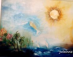"""Atelier de Arte Julainne: """"SOS"""" natureza- óleo sobre tela, folha de ouro e l..."""