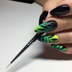 Nail designs here! Neon Nails, Dope Nails, Nail Art Fleur, Nail Art Techniques, Nails 2018, Flower Nail Art, Nail Swag, Almond Nails, Black Nails