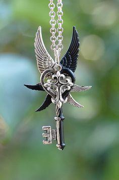 Ying Yang Cross Key Necklace - 335 on Etsy, $33.54 AUD