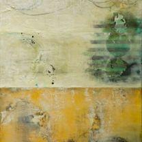 "Simpatico-07-48""x36"", encaustic, pigments on panel"