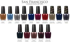 San Francisco Collection by O • P • I