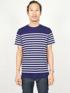 A.P.C. T-shirt Tunisien Rayé Dark Navy