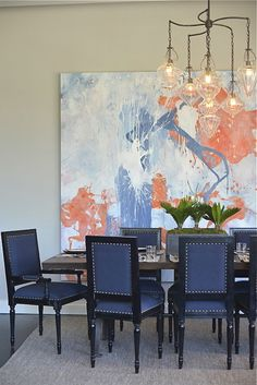 beautiful chairs -- black with solid fabric -- Lovera Interiors - Barrow Street Project - DIning Room