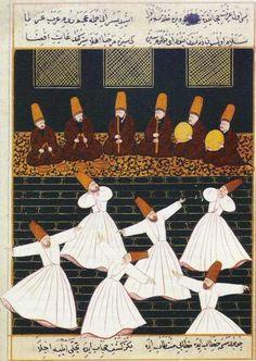 Ritual of the whirling dervishes at Konya Posters Art Prints by Ottoman School - Magnolia Box Let ́s Dance, Empire Ottoman, Whirling Dervish, Turkish Art, Canvas Prints, Art Prints, Illuminated Manuscript, Islamic Art, Islamic Posters