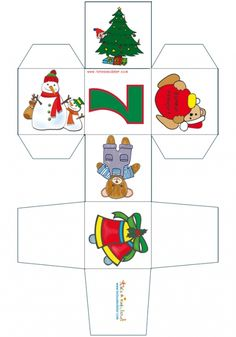 Cubes, Paper Toy, Decoration, Advent Calendar, Holiday Decor, Christmas, Word Search, Puzzles, Home Decor