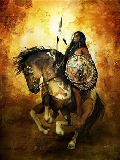 A watercolor painting depicting a young Native American Indian boy watching the sun come up from a high point with his Indian pony beside him. Description from pinterest.com. I searched for this on bing.com/images