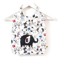 Serviette enfant à élastique, pour la rentrée en maternelle, illustrée d'un joli éléphant sur tissu éléphants bleus, de 8 mois à 5-6 ans Elephant Bleu, Floral Tops, Textiles, Etsy, Tank Tops, Women, Fashion, Napkins, Pretty