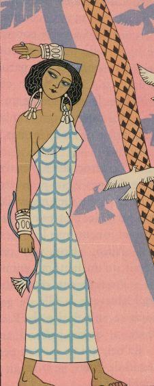 Roman de la Momie #gallica #illustrateur #illustrator #barbier