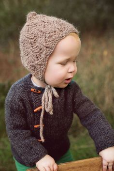 The Enchanted Forest Collection Hand knitted baby and toddler accessories by Gynka Knitwear Baby Hat Patterns, Knitting Patterns, Knitted Hats, Crochet Hats, Bonnet Pattern, I Cord, Yarn Needle, Baby Hats, Baby Knitting