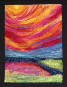 i love felted paintings