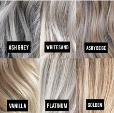 Blonde Color Tone Chart - All For Hair Color Balayage Brown Blonde Hair, Toning Blonde Hair, Toner For Blonde Hair, Grey Blonde Hair Color, Sand Blonde Hair, Ash Blonde Balayage Short, Cool Toned Blonde Hair, Medium Ash Blonde Hair, Hair Medium