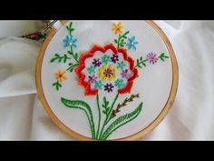 Hand Embroidery: Buttonhole stitch variation - YouTube