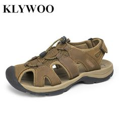 Plus Size 38-47 Men Sandals Genuine Leather Fashion Summer Shoes Men Slippers Breathable Mens Sandals Causal Shoes Leather (32628477809)  SEE MORE  #SuperDeals