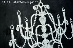 How to hand draw a chalk-art-chandelier! Chalkboard Window, Kitchen Chalkboard, Chalkboard Ideas, Chalk It Up, Chalk Art, Halloween Chalkboard Art, Chalk Drawings, Industrial Chic, Halloween Party