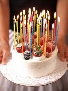 Happy Birthday ~ eat lots of cake! Cupcakes, Cupcake Cakes, Pretty Cakes, Beautiful Cakes, Fruit Birthday Cake, Birthday Cake With Candles, Fingerfood Party, Happy Birthday, Birthday Bash