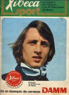 ALBUM XIBECA SPORT CERVEZAS DAMM 1ª DIVISION Y 16 SELECCIONES 1974 JOHAN CRUYFF