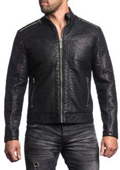 Biker Zipper Leather Jacket