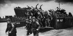 On June wave upon wave of American, British and Canadian forces landed on the shores of Nazi-occupied France, in a surprise sea and air assault. D Day Photos, The Big Red One, 4th Infantry Division, Military Units, Total War, 70th Anniversary, Normandy, North Africa, World History