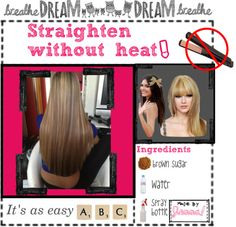 """""""How to straighten your hair without using heat."""" If you don't have time. Could be worth trying.."""