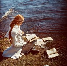 ❦ She reads books by the seashore...