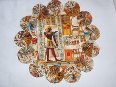 Egyptian print yo yo mat/doilies set of 2 home decor by SursyShop, $15.00